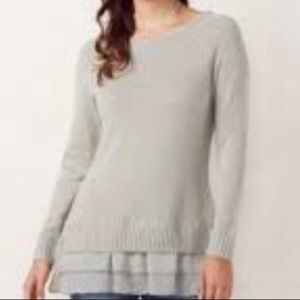Lauren Conrad silver sparkle sweater